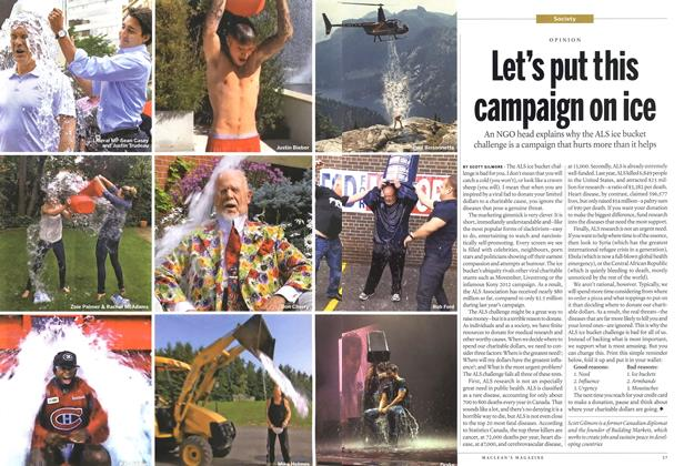 Let's put this campaign on ice, Page: 36 - SEPTEMBER 8, 2014 | Maclean's