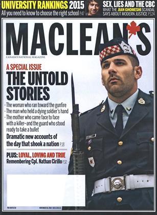 NOVEMBER 10, 2014 | Maclean's