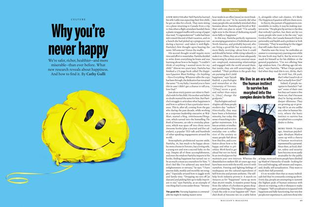 Why you're never happy