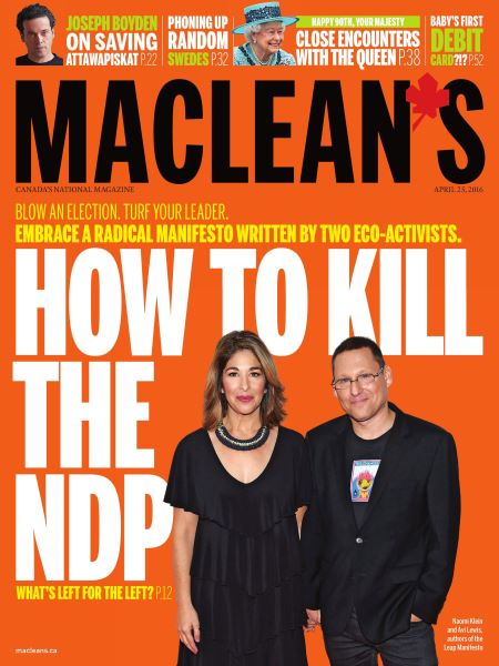 Issue: - April 25 2016   Maclean's