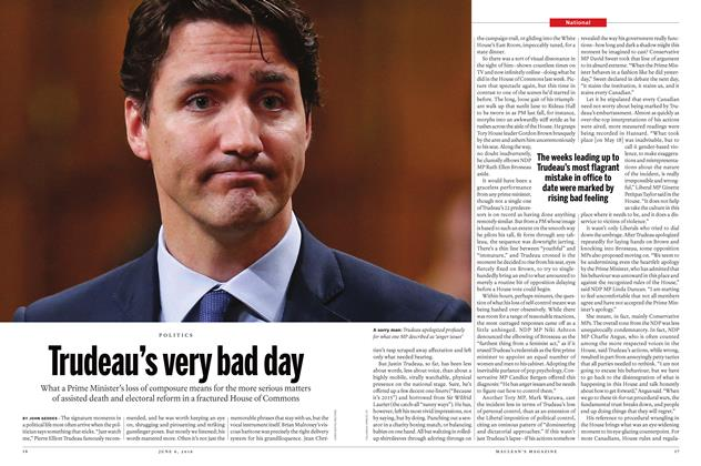Trudeau's very bad day